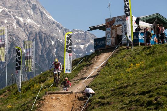 iXS Downhill Cup in Leogang auf der neuen Strecke für die Weltmeisterschaft