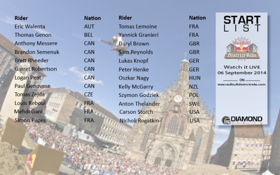 RedBullDistrictRide Line Up