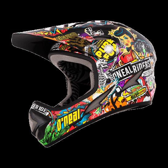 ONeal Backflip Fidlock DH Kids Helmet Evo CRANK black multi Seite