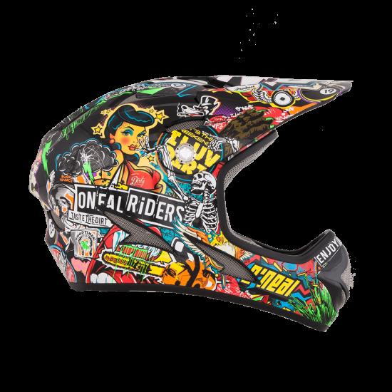 ONeal Backflip Fidlock DH Kids Helmet Evo CRANK black multi Seite rechts