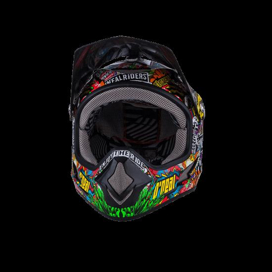 ONeal Backflip Fidlock DH Kids Helmet Evo CRANK black multi Vorne