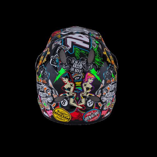 ONeal Backflip Fidlock DH Kids Helmet Evo CRANK black multi hinten