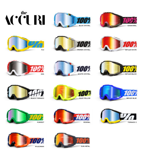 100% Goggle Accuri anti fog mirror lens
