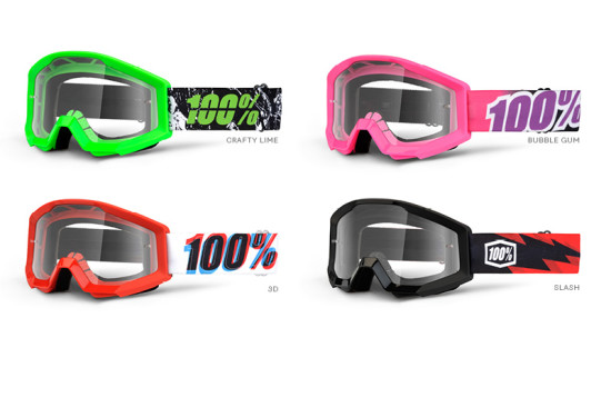 100% Goggle Strata Youth anti fog clear lens