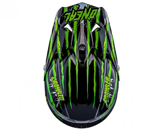 ONealFury Fidlock DH Helmet Evo Crawler Oben schwarz grün