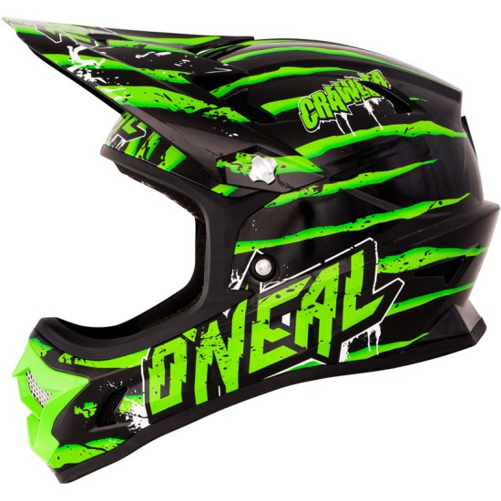 ONealFury Fidlock DH Helmet Evo Crawler Seite links schwarz grün