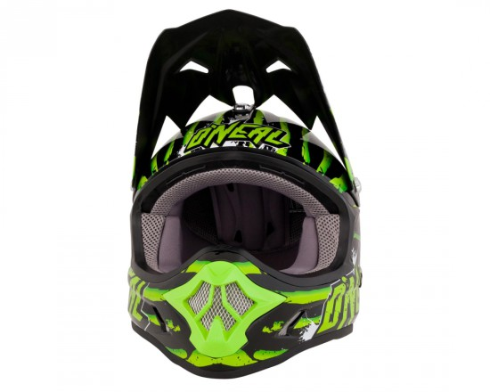 ONealFury Fidlock DH Helmet Evo Crawler Vorne schwarz grün