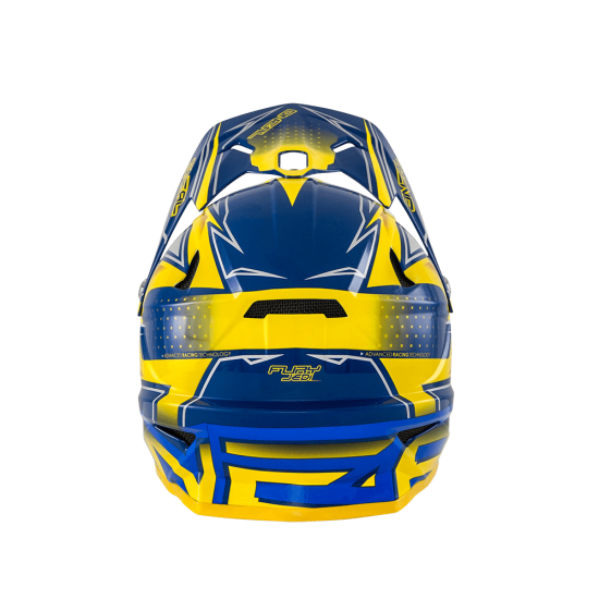 Oneal Fury Fidlock DH Helmet Evo JEDI gelb blau Hinten