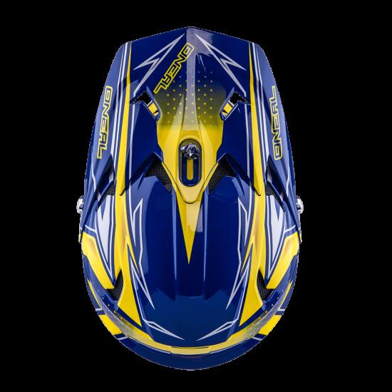 Oneal Fury Fidlock DH Helmet Evo JEDI gelb blau Oben